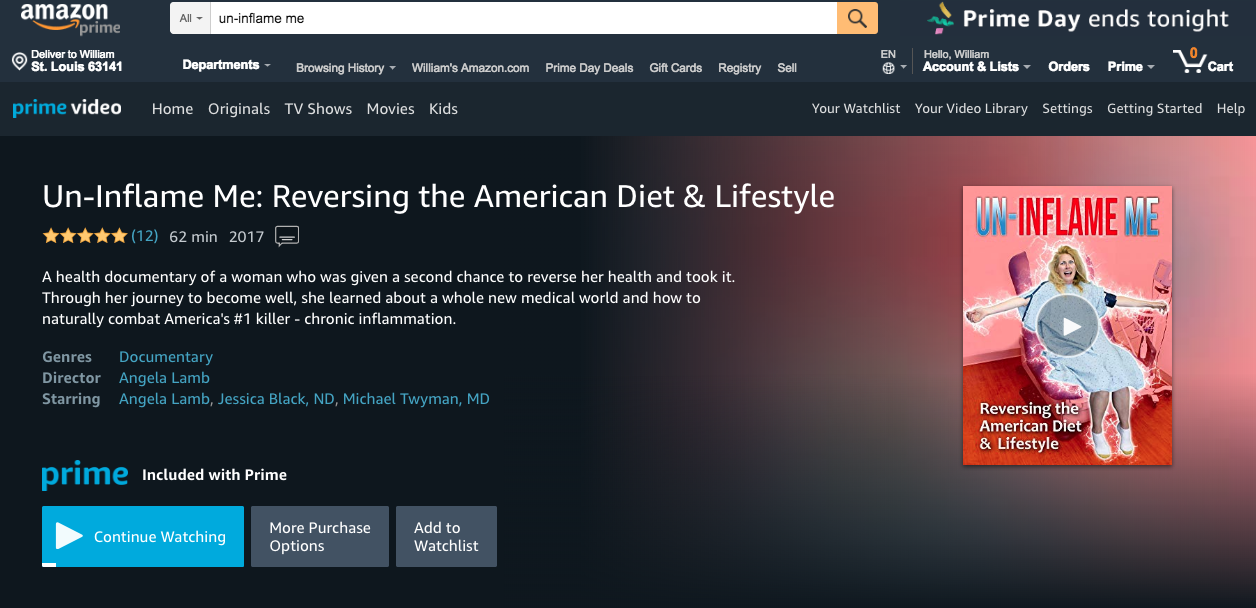 """Un-Inflame Me"""" NOW on Video on Demand « Healthy Life Nation"""